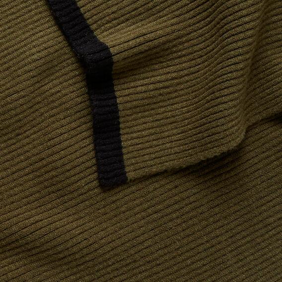 Ribbed Knit Scarf  KHAKI  hi-res