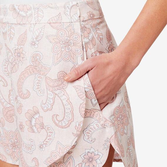 Printed Drape Short  PAISLEY  hi-res