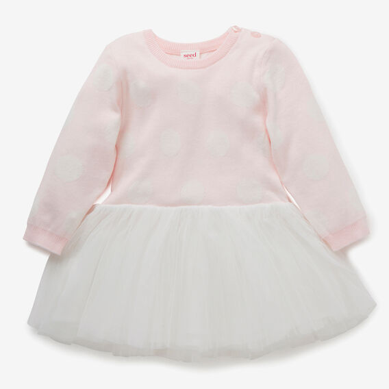 Knit Tutu Dress  ICE PINK  hi-res