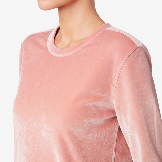 Velour Sweater  SOFT BLUSH  hi-res