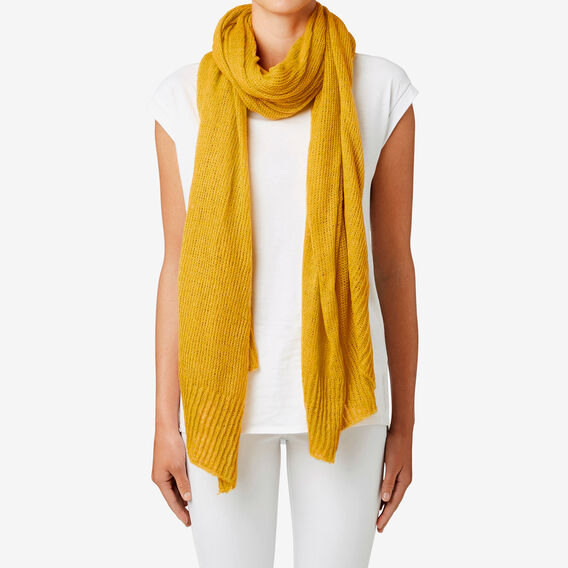 Simple Wrap Scarf  MUSTARD  hi-res