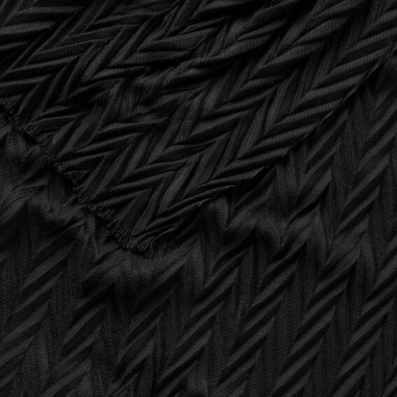 Zig Zag Pleat Scarf  BLACK  hi-res