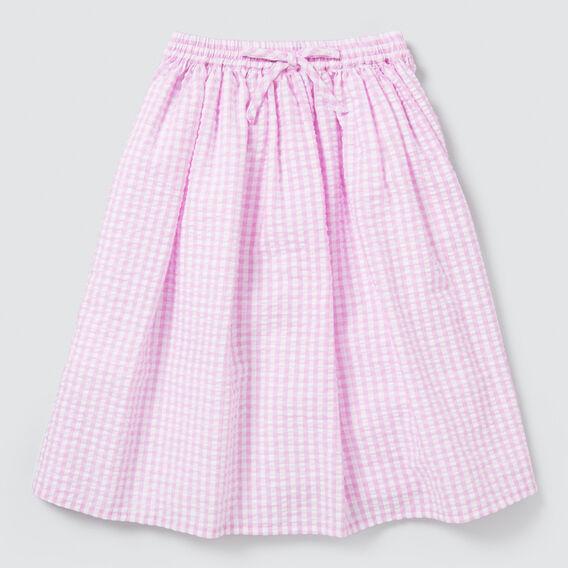 Gingham Midi Skirt  BRIGHT LILAC  hi-res