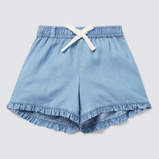 Tencel Shorts  SOFT BLUE WASH  hi-res
