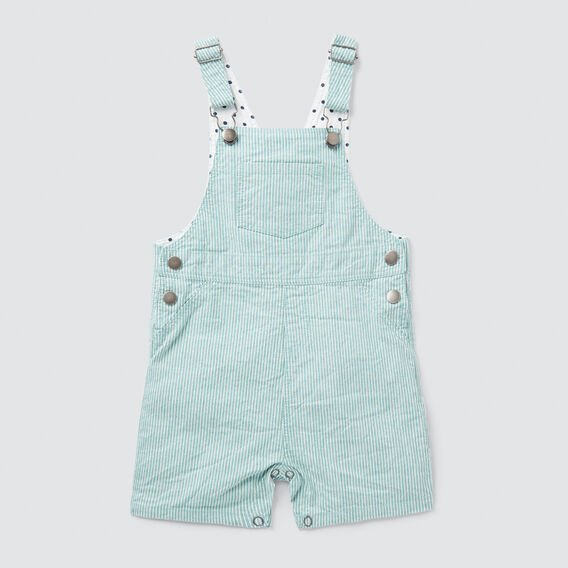 Woven Stripe Overall  PALM GREEN  hi-res
