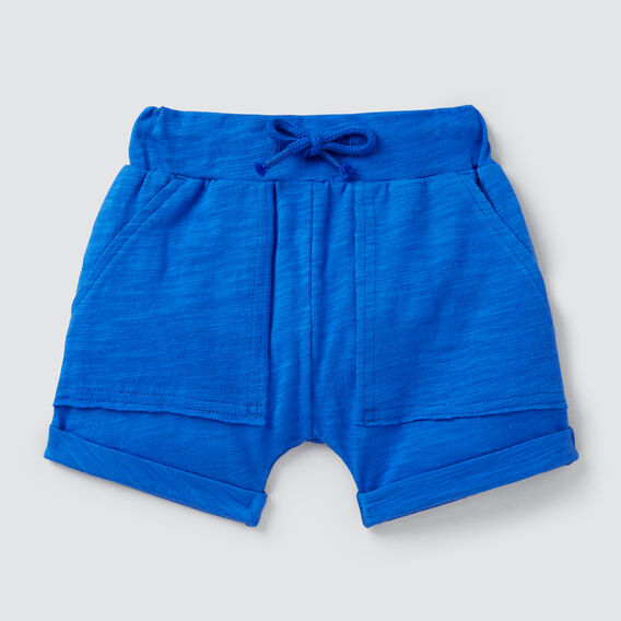 Slub Jersey Pocket Short  BRIGHT COBALT  hi-res