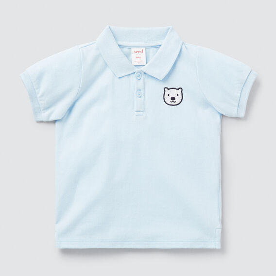 Bear Polo  PACIFIC BLUE  hi-res