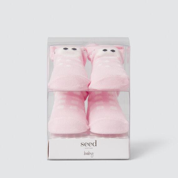 Piglet Sock Gift Box  PINK  hi-res