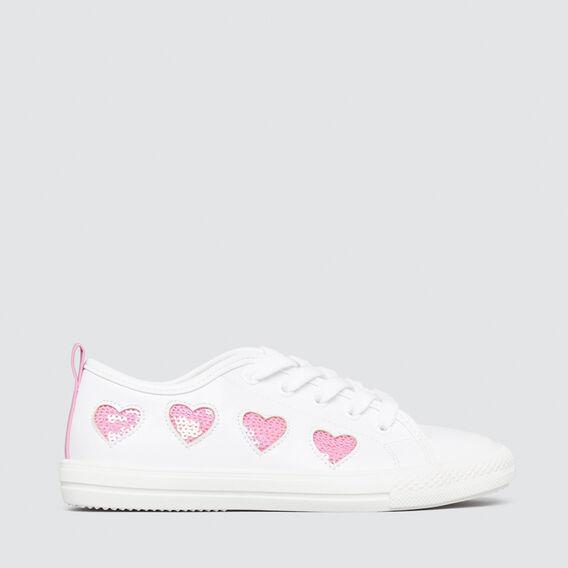 Glitter Heart Sneaker  WHITE/ PINK  hi-res