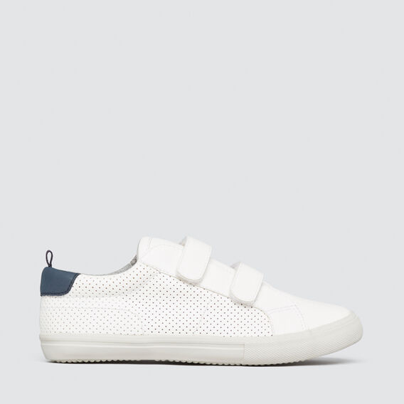 Velcro Perforated Trainer  WHITE  hi-res