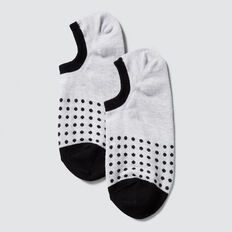 Sneaker Sock  BLACK POLKA DOT  hi-res