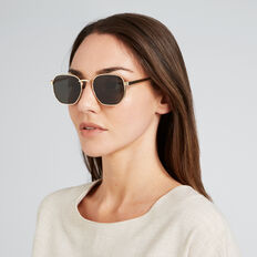 Tilly Fashion Round Sunglasses  GOLD  hi-res