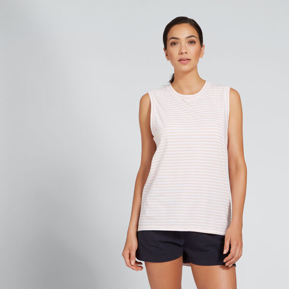 Asymmetric Tank  BLUSH STRIPE  hi-res