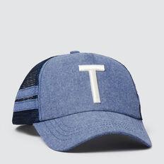 Boys' Initial Mesh Cap  T  hi-res