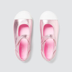 Toddler Canvas Mary Jane  PINK METALLIC  hi-res