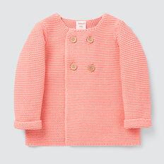 Pearl Knit Cardigan  BRIGHT PEACH  hi-res