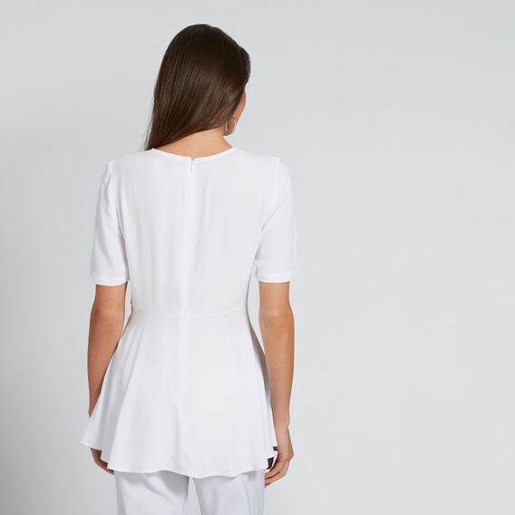 Fit and Flare Top  WHISPER WHITE  hi-res