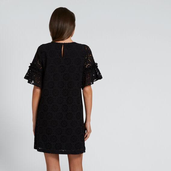 All-Over Broderie Dress  BLACK  hi-res