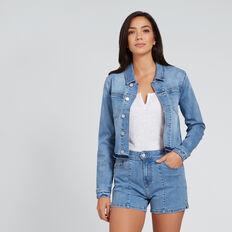 Cropped Denim Jacket  CLASSIC DENIM  hi-res