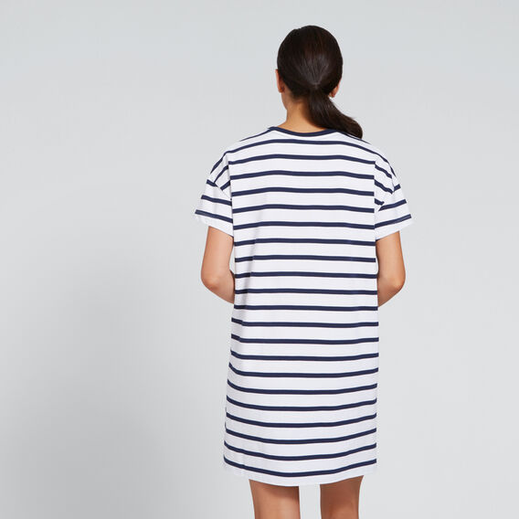 Rugby Dress  SNOW WHITE/INKY NAVY  hi-res
