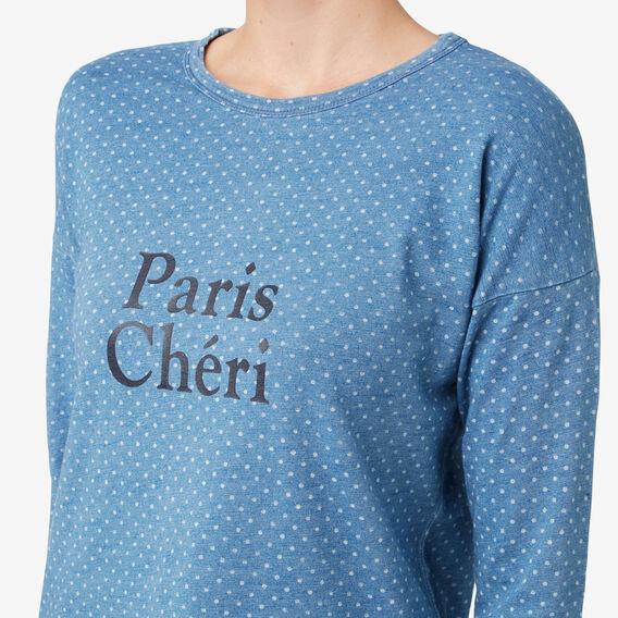 Paris Cheri Top  DENIM MARLE  hi-res