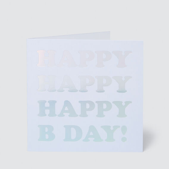 Large Happy Happy Birthday Card  MULTI  hi-res