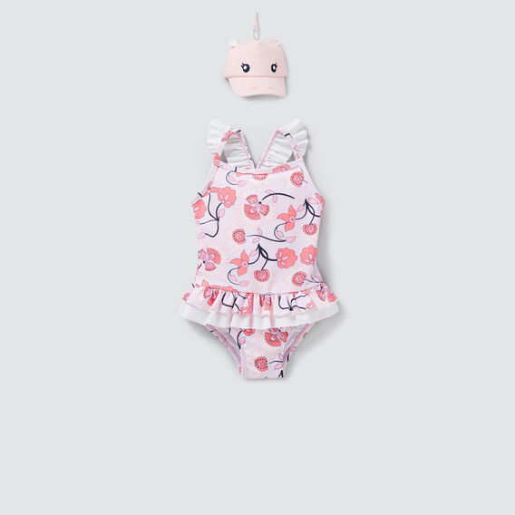 Floral Frill Bather  MULTI  hi-res