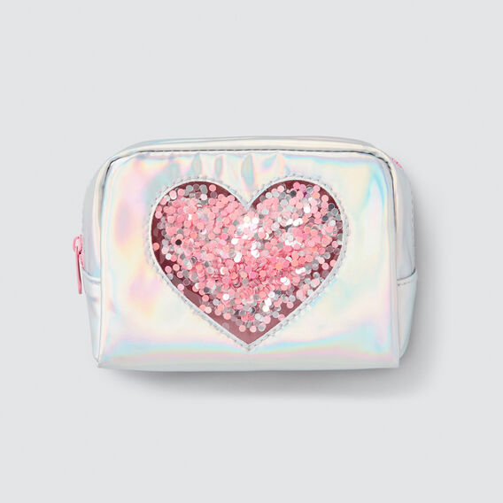 Confetti Heart Zip Case  IRIDESCENT  hi-res