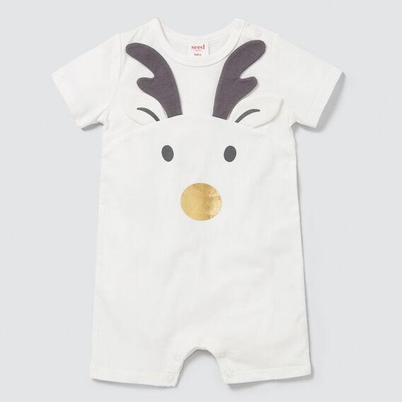 Novelty Reindeer Jumpsuit  CANVAS  hi-res