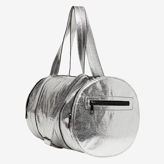 Metallic Duffel  SILVER  hi-res