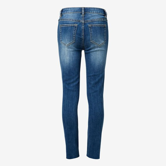 Turn-Down Hem Jean  BLASTED INDIGO  hi-res