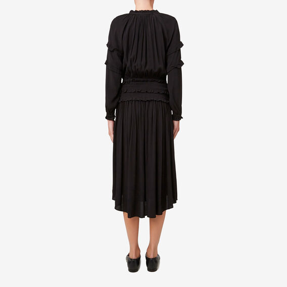 Shirred Waist Dress  BLACK  hi-res
