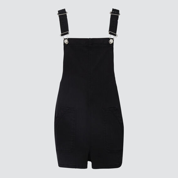 Flat-Front Dungaree  WASHED BLACK  hi-res