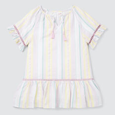 Rainbow Stripe Dress  MULTI  hi-res