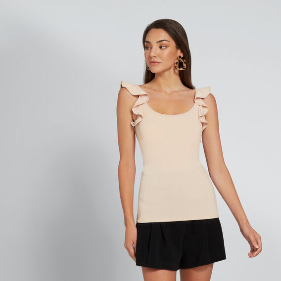Fitted Sleeve Detail Tank  NEW NUDE  hi-res