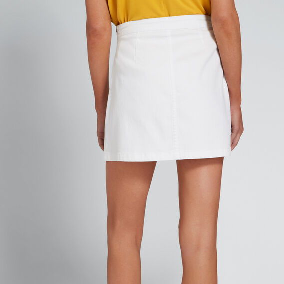 Basic Denim Skirt  WHITE  hi-res
