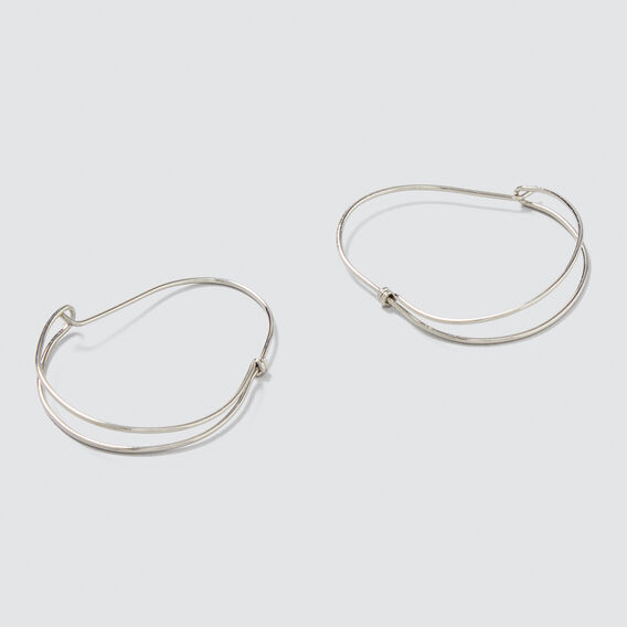 Dome Hoop Earrings  SILVER  hi-res