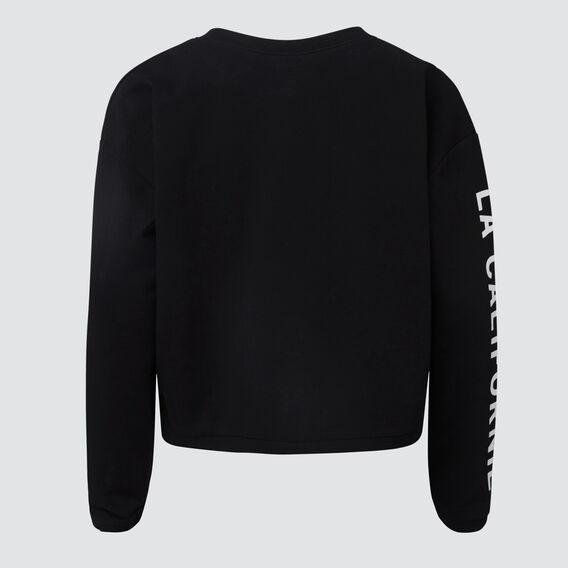 Crop Long Sleeve Tee  BLACK  hi-res