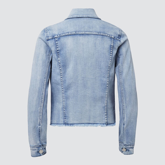 Distressed Denim Jacket  PALE BLUE WASH  hi-res