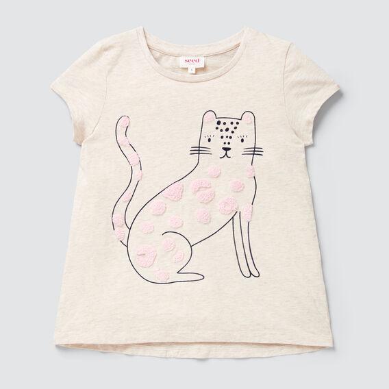 Chenille Kitty Tee  OAT  hi-res