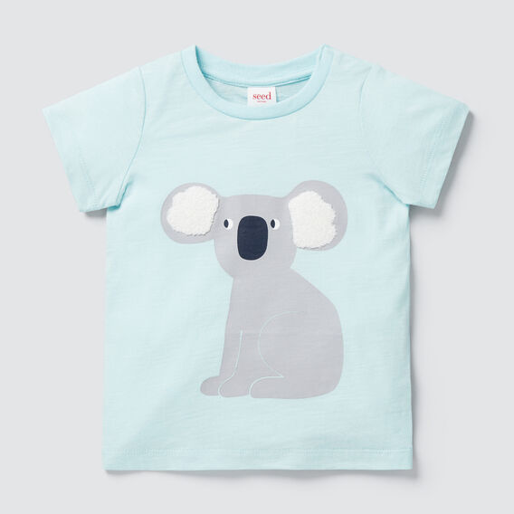 Chenille Koala Tee  AQUA  hi-res