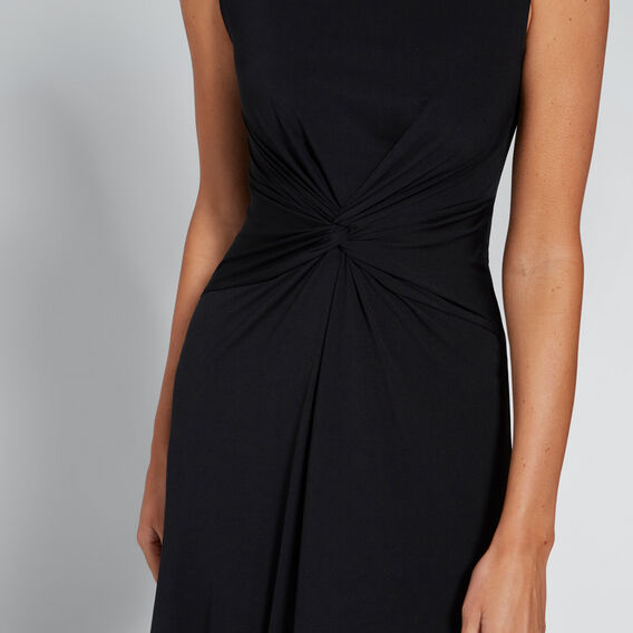 Twist Front Dress  BLACK  hi-res