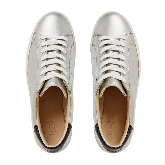 Georgina Lace Up Sneaker  SILVER  hi-res