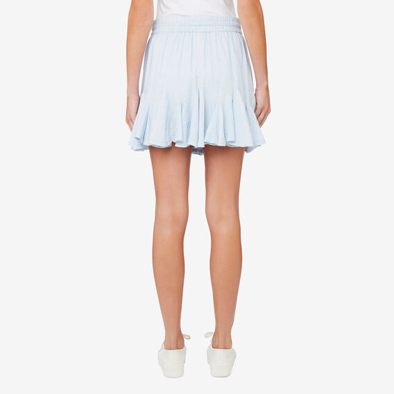 Flared Mini Skirt  SPRING BLUE  hi-res