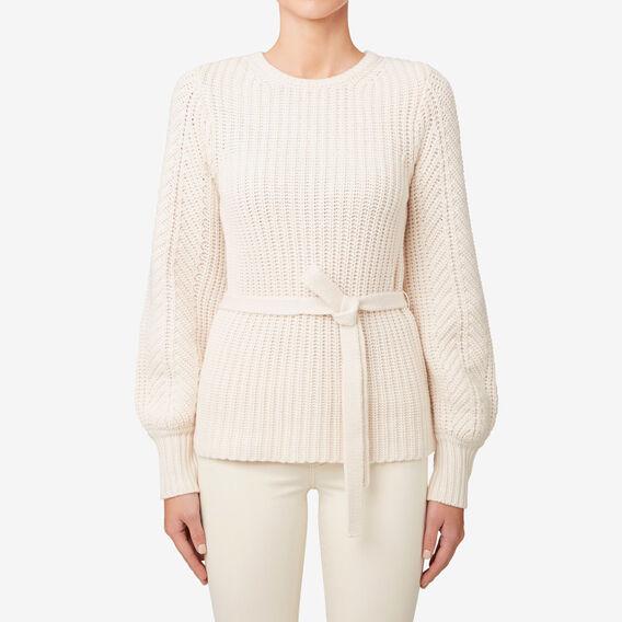 Fancy Stitch Sweater  SHELL CREAM  hi-res