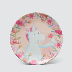 Unicorn Dreams Melamine Plate  MULTI  hi-res
