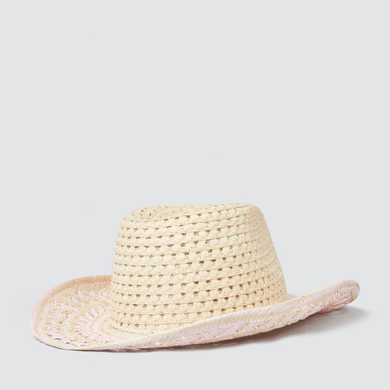 Two-Tone Cowboy Hat  NATURAL  hi-res