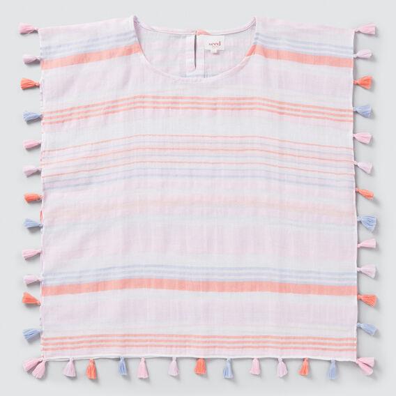 Bright Stripe Poncho  MULTI  hi-res
