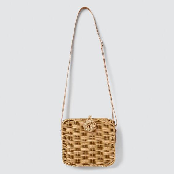Wicker Box Bag  TAN  hi-res