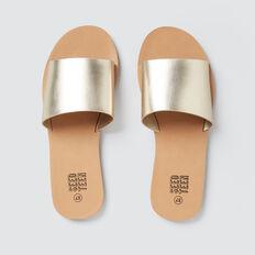 Metallic Slide Sandal  GOLD  hi-res